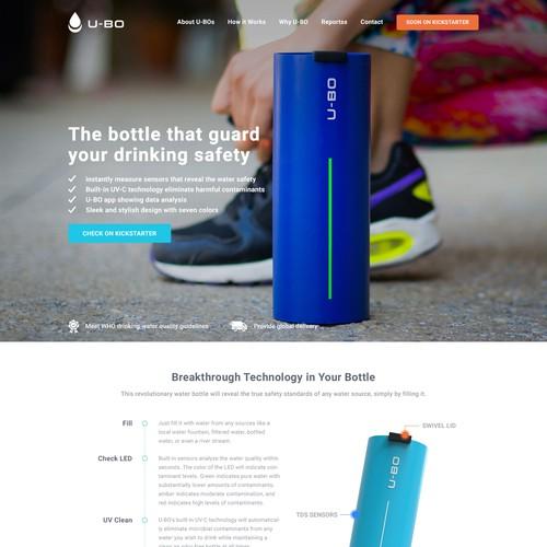 Landing Page for Kickstarter