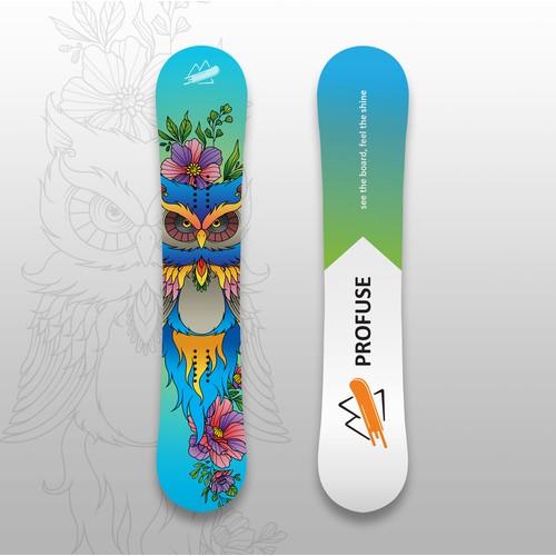 Snowboard deck