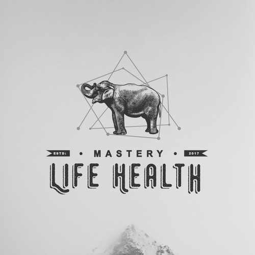 "The logo was created for a health blog - ""Life Habits"""