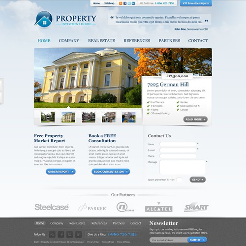 website design for Property Investment House