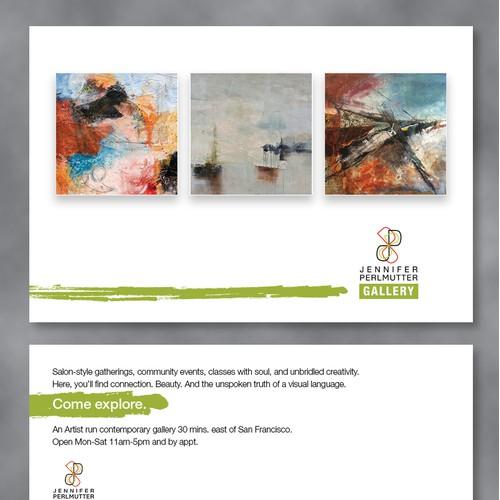 Postcard identity for Art Gallery