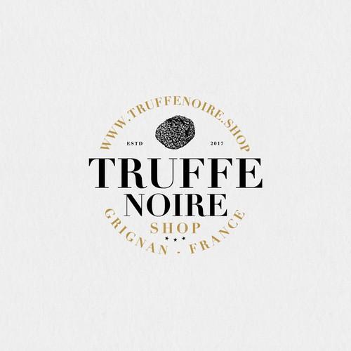 Logotype for a seller of black truffles in France.