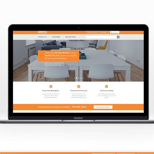Clean landing page design