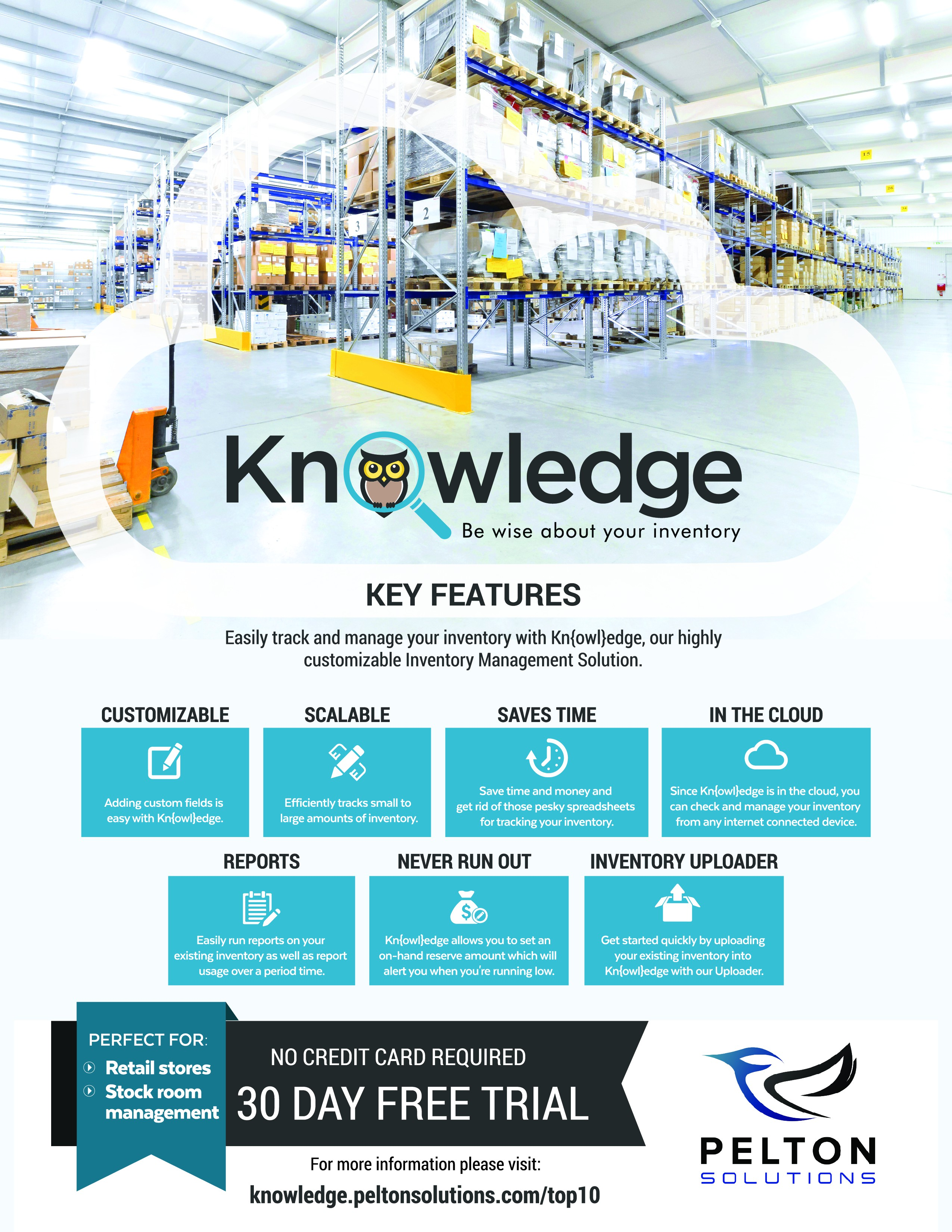 Full page magazine Ad for our Inventory Management Solution
