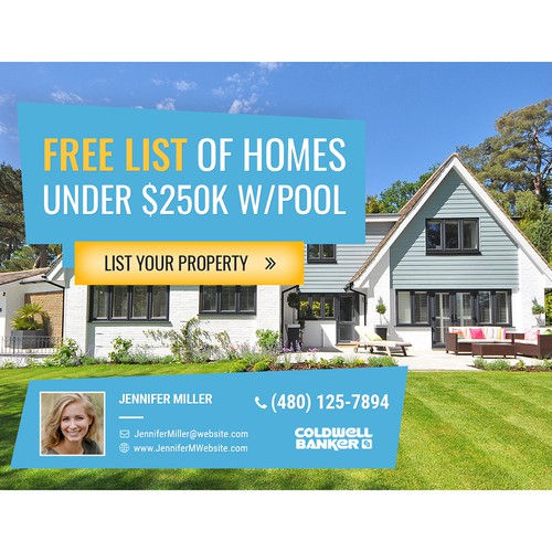 Facebook Ad for Free List of Homes