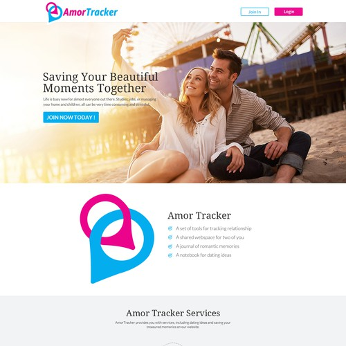 Amor Tracker Website Design