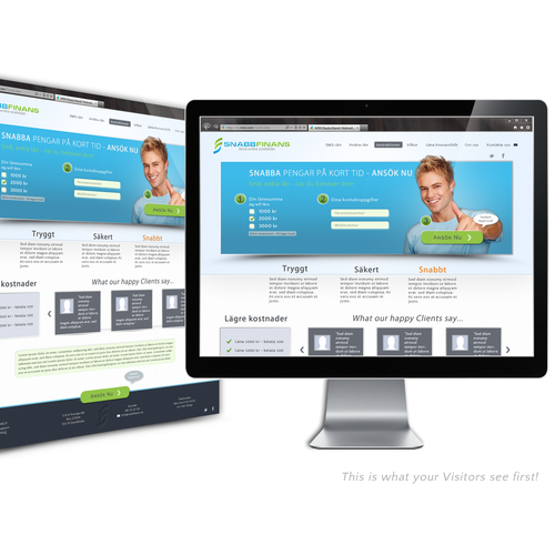 "website design for Snabbfinans ("" Fast finance"" )"