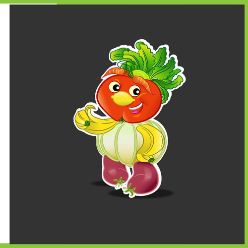 Create a Mascot Vegetable Creature  for new Cafe