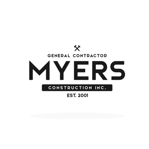Vintage Logo concept for MYERS Construction