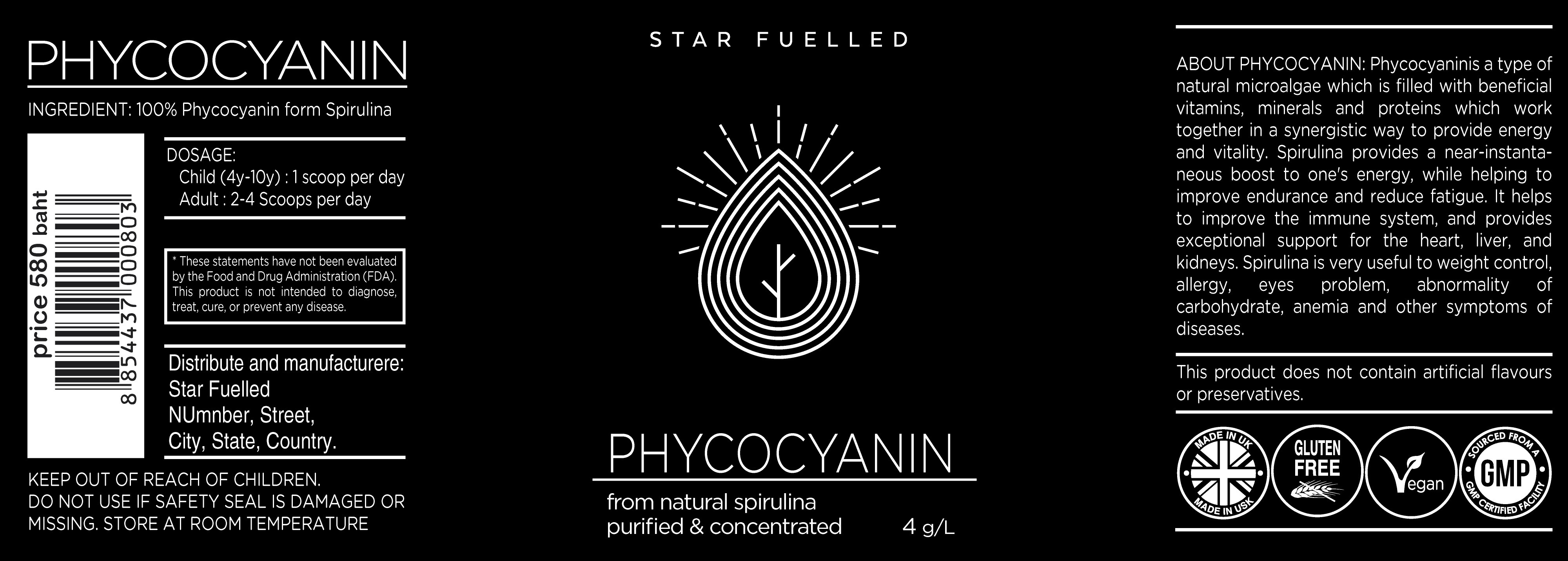 A young nutraceutical company needs a modern, fresh label for the launch of their new product
