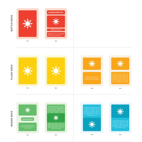 Simple Graphic Design for Card Decks
