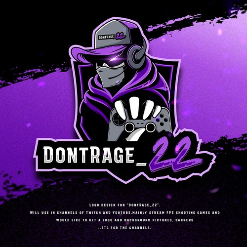 "Gaming Designs for Streaming Channels ""DontRage_22"""