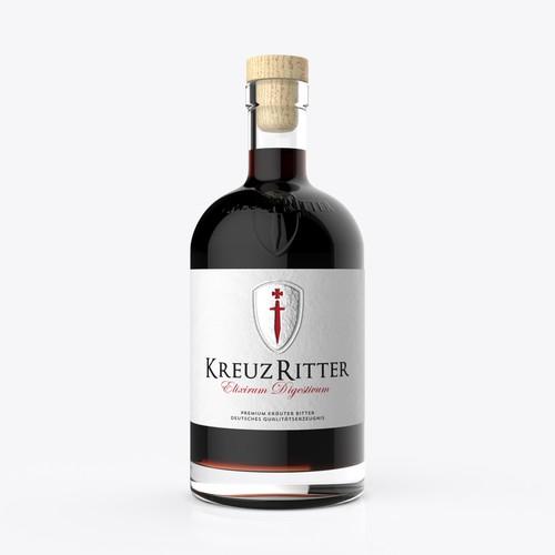 """New label for 0,5l bottle of """"Kreuzritter"""""""