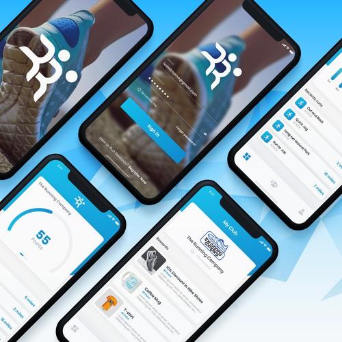Fitness rewards app