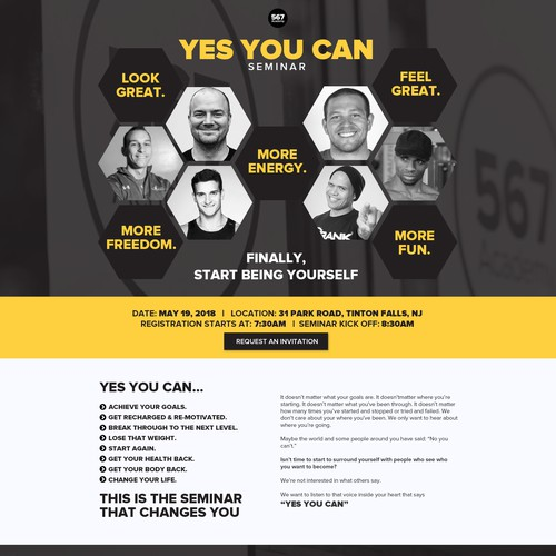 """Yes You Can"" Event Landing Page"