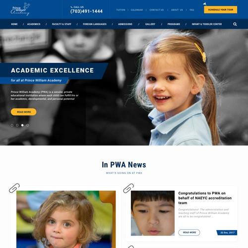 School Website UI