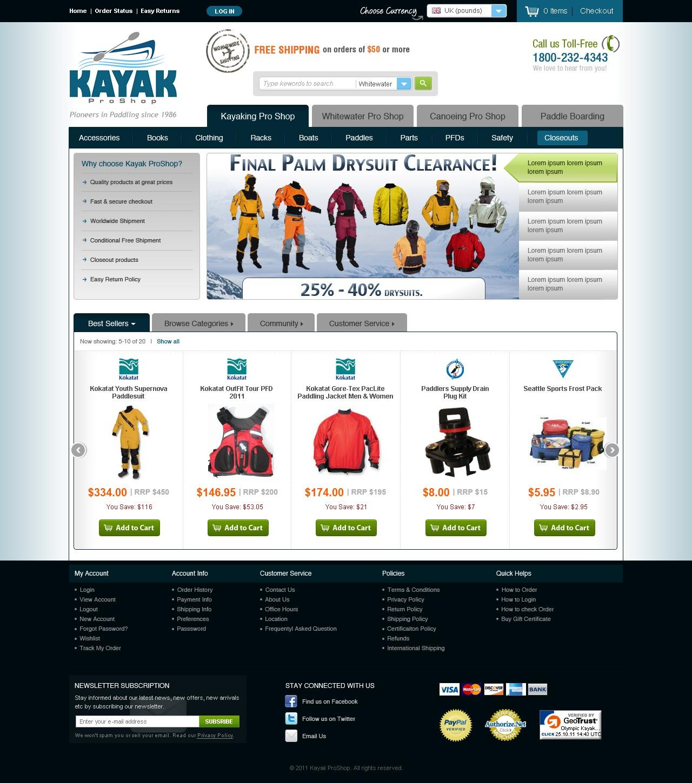 Help KayakProShop.com with a new website design