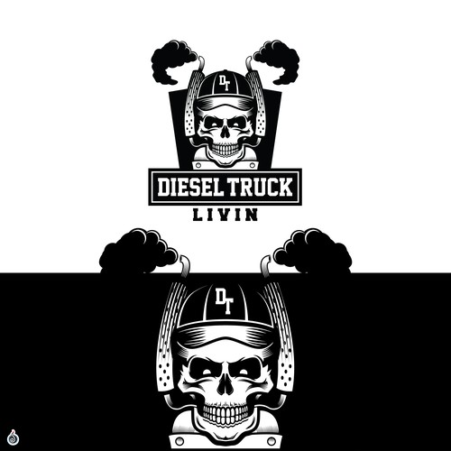 Rocking Edgy Logo for Diesel Trucking Club