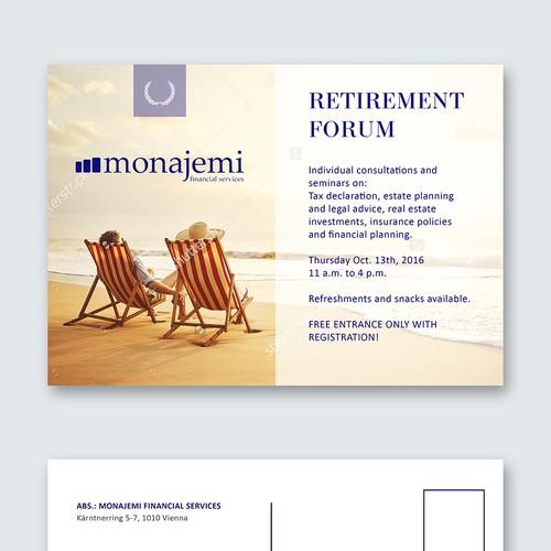 """Invite for a """"Retirement forum"""""""