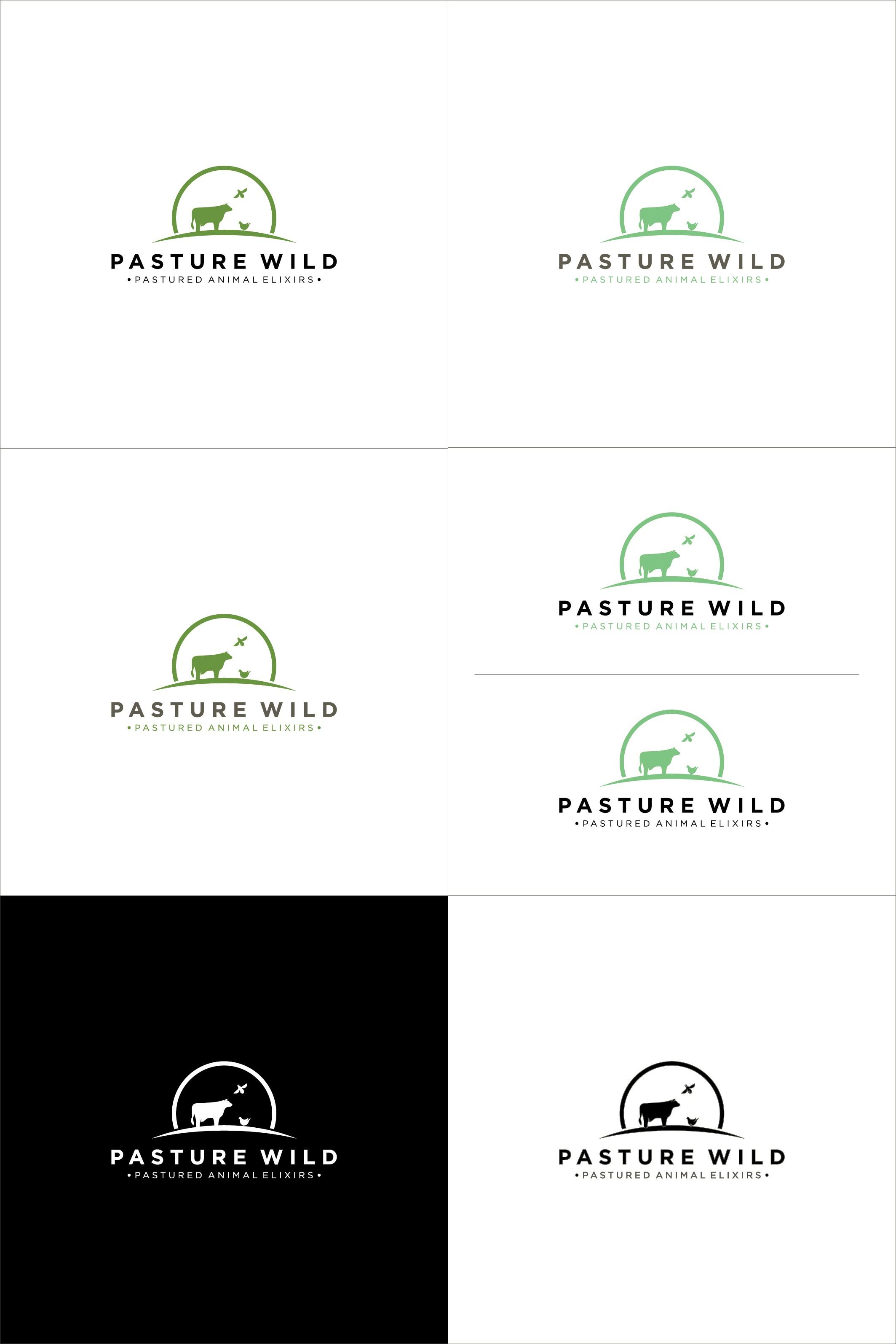 Create a Modern Clean Logo for Pasture Wild