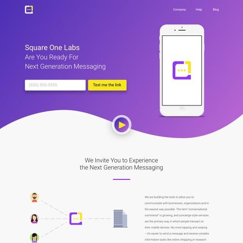 Landing Page Design for Messaging App