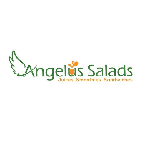 Create a logo for a juice, salad and sandwich bar.