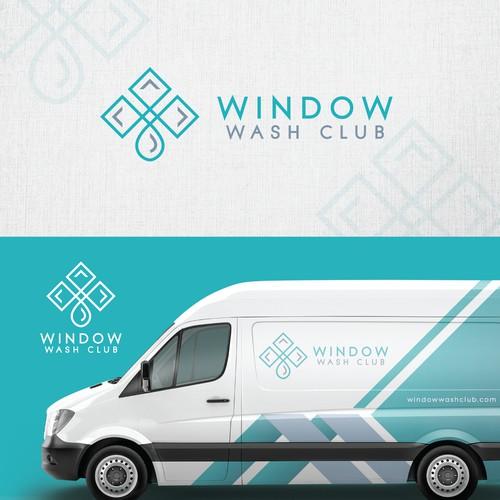 modern window washing logo