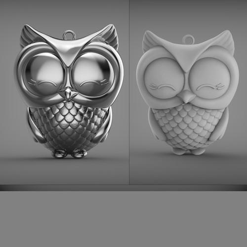 owl designkeychain