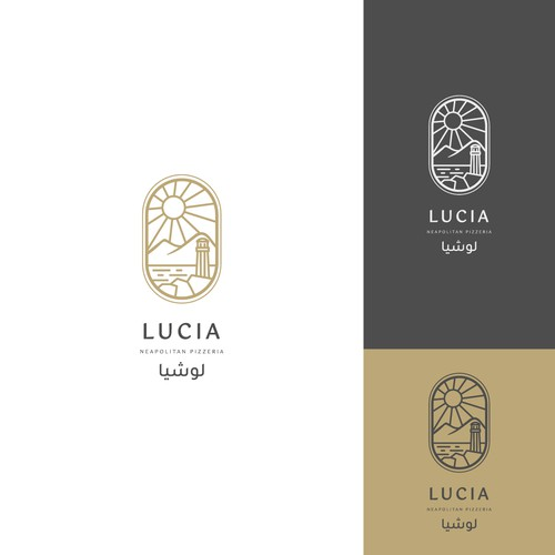 logo for Lucia Pizzeria