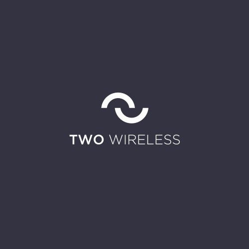 Modern  logo for cellular company Two Wireless