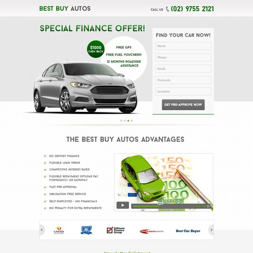 Car Finance Offer - Landing Page