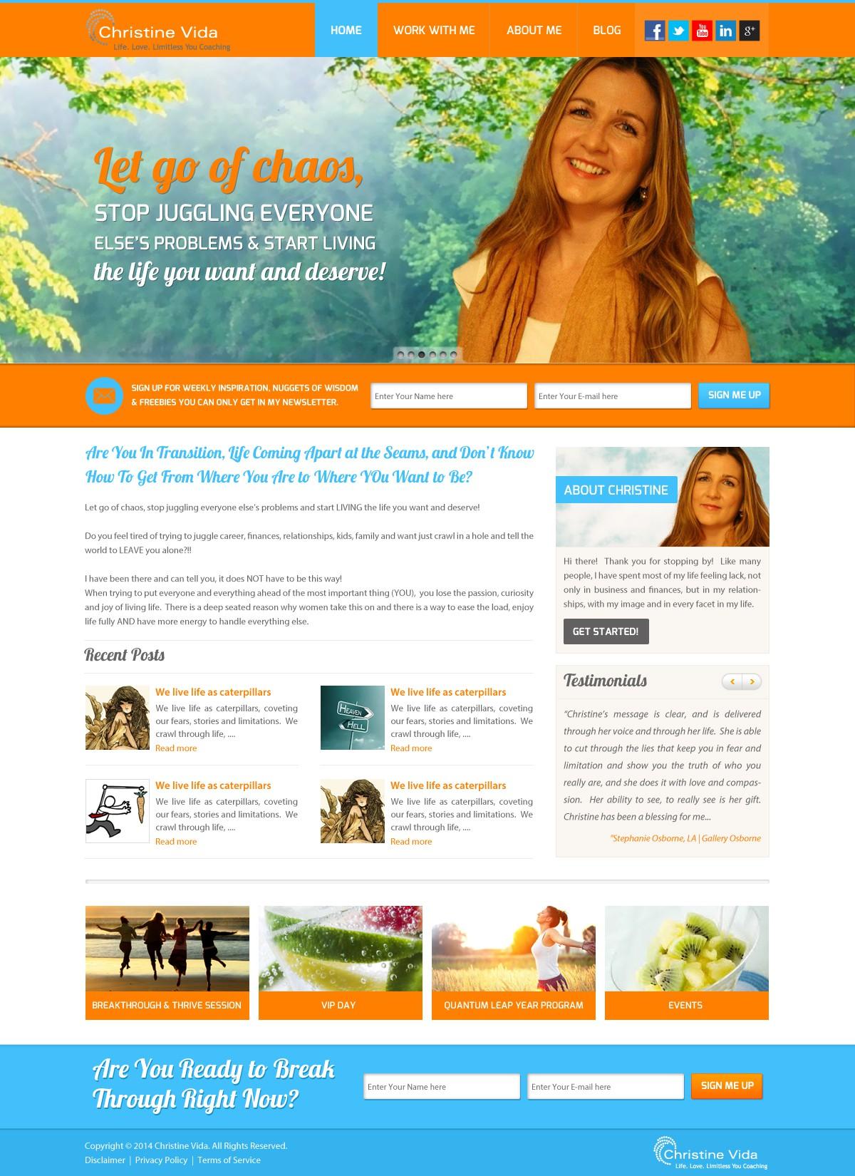 Create a Cool, Fresh & Fun Website for Transformational Coach