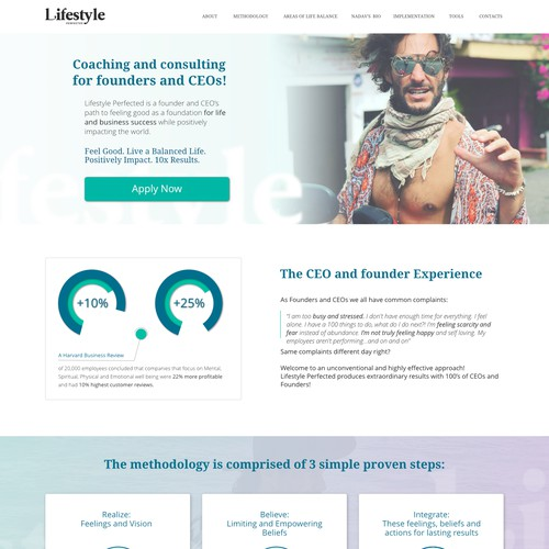 Design of Landing Page for CEOs with a Bohemian flow