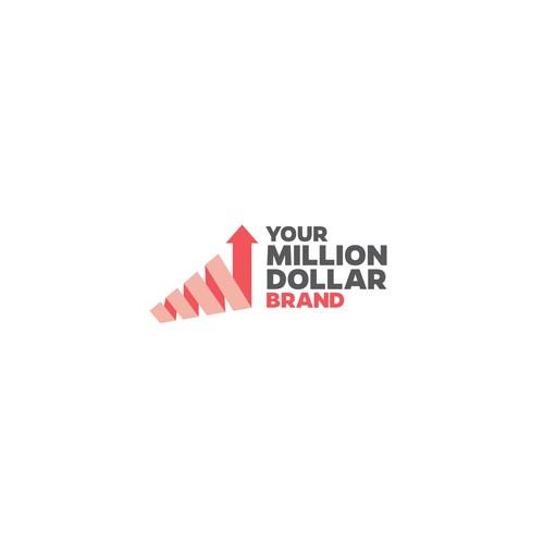 Bold logo concept for Your Million Dollar Brand.