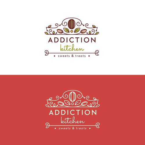 A luxurious logo for a home kitchen brand that makes sweets and treats
