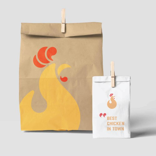 Chicken Logomark for a Fast Food Restaurant