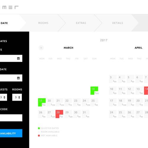 Booking portal web design