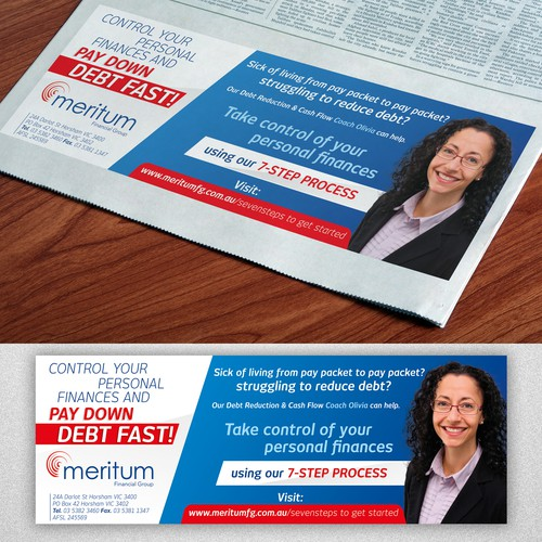 Create an eye-catching advert for Meritum Financial Group