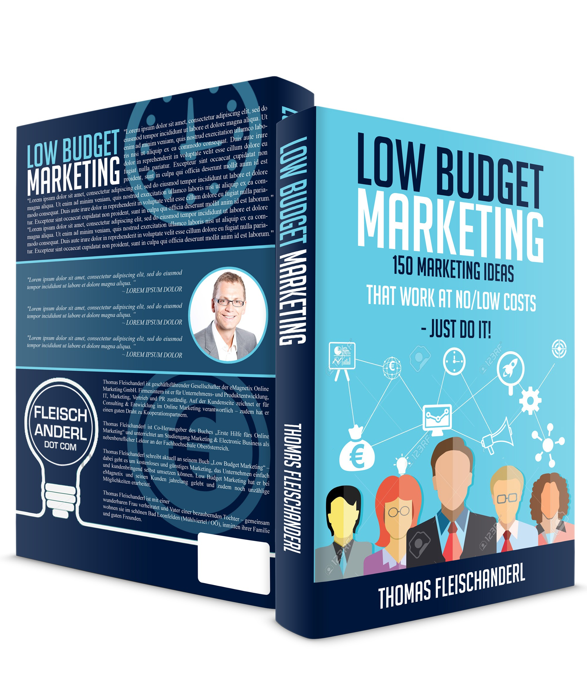 Create a fabulous book cover for a fascinating marketing book