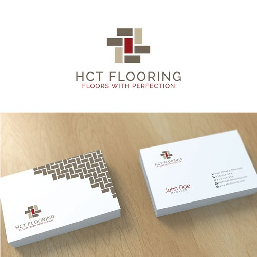 Simple modern logo for flooring comp..