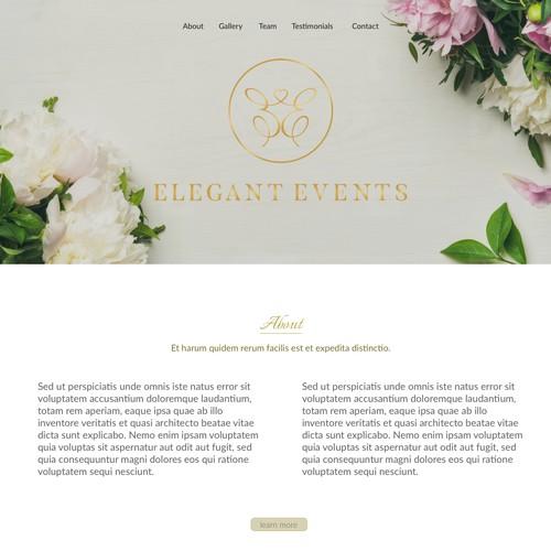 Design concept for Wedding Company