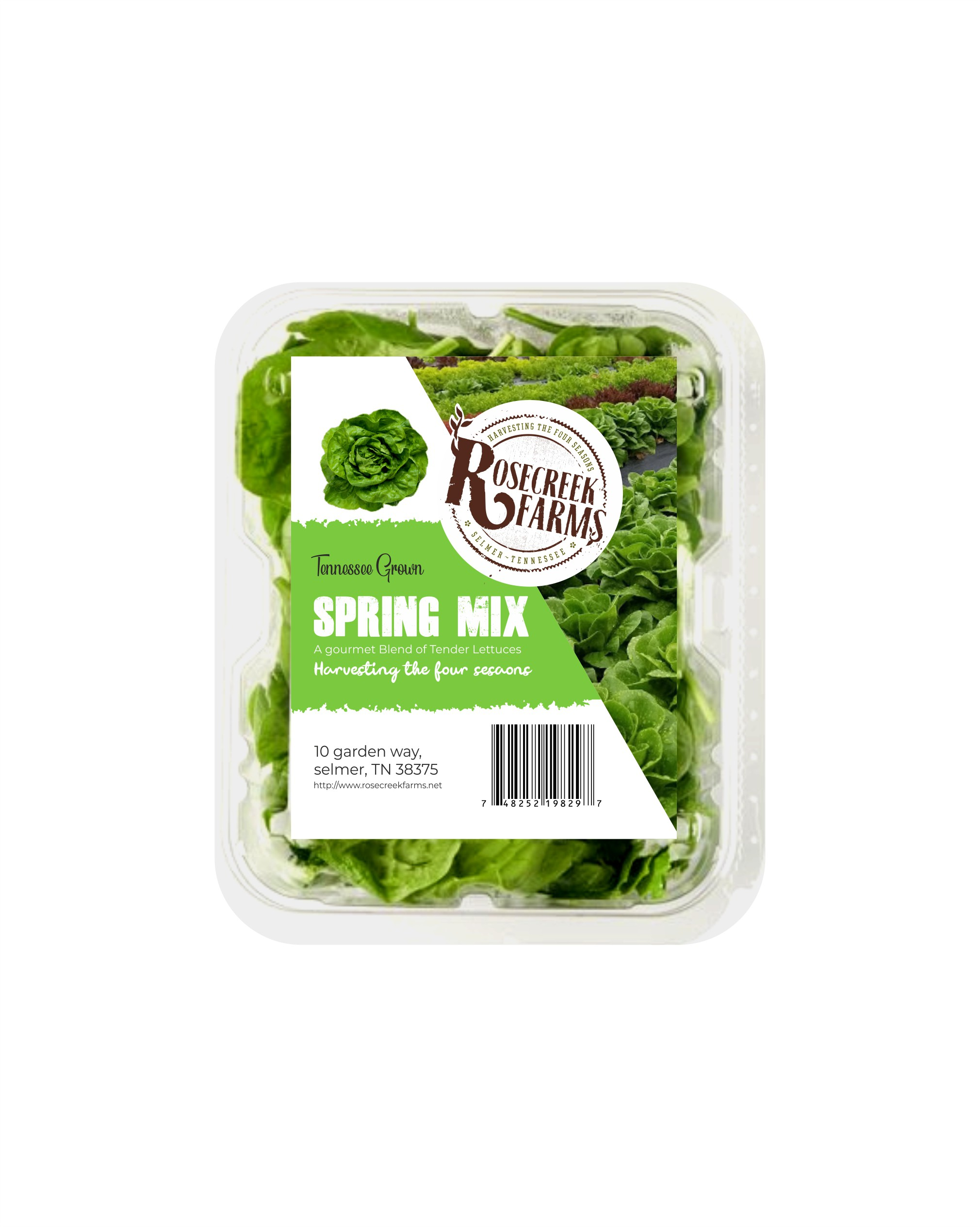 Spring Mix label for an Organic farm
