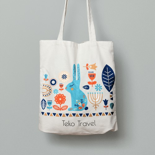 An Amazing Nordic Inspired Tote Bag that Pops on Instagram!