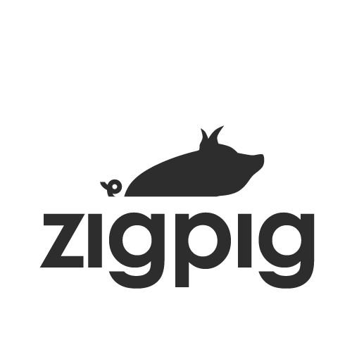 create a pig-themed logo