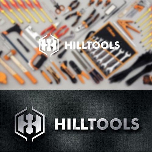 logo for a new online tool retailer Hill Tools!