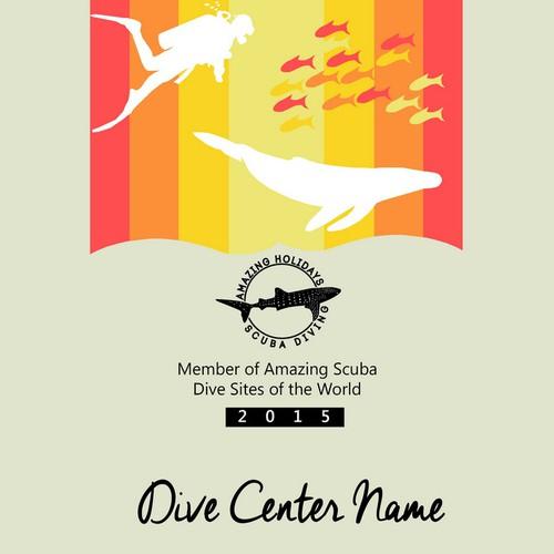 Certificate Design (Amazing Scuba Diving Sites)