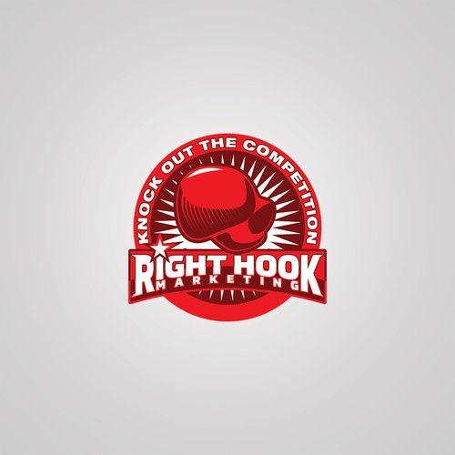Create a brand identity for Right Hook Marketing, LLC