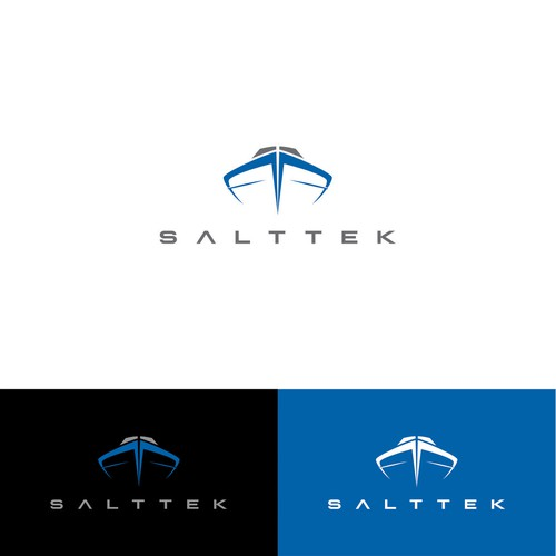 Logo for SaltTek, a Boat-Tech Company,