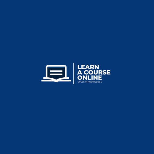 minimal design logo for course online