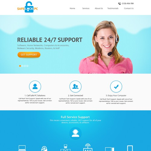 Technical Support site for SafeLock PC